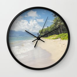 Kawililipoa Beach Kihei Maui Hawaii Wall Clock