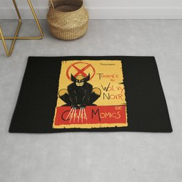 Wolvy the black cat Rug