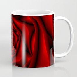 Rose Spiral in Black and Red Coffee Mug