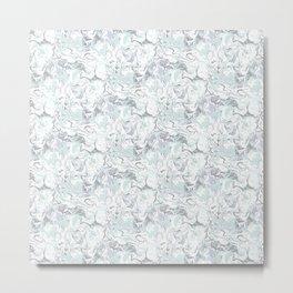 Marbleized - Mint Metal Print