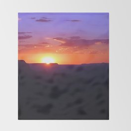 Colorful Grand Canyon Sunset Throw Blanket