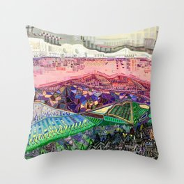 Big Mountians Throw Pillow