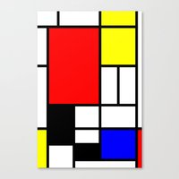 mondrian Canvas Prints featuring Mondrian by Fine2art