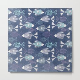 Here, Fishy Fishy Metal Print