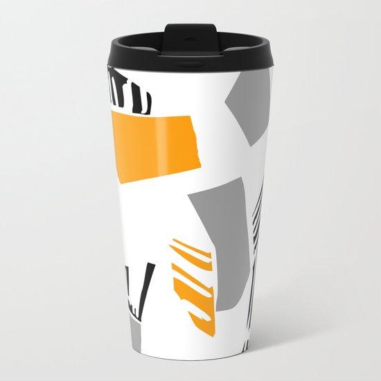 abstract 60 Metal Travel Mug