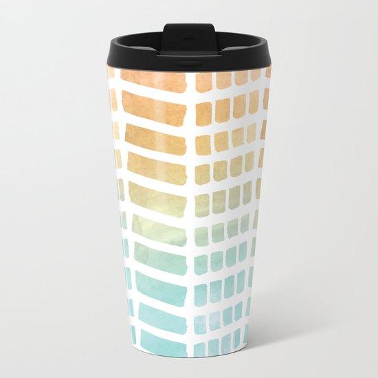 Gradient Boho Pattern Metal Travel Mug