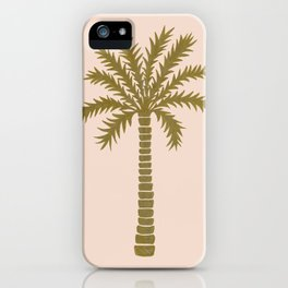 Gold Palm Tree iPhone Case