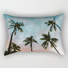 Palms Above (Color) Rectangular Pillow