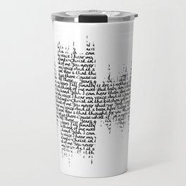Tori Amos - Silent All These Years Lyrics Soundwave (light backgrounds) Travel Mug