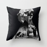 hitchcock Throw Pillows featuring Hitchcock by tycejones