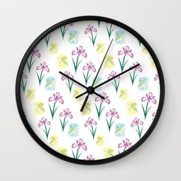 Scent of Irises Wall Clock