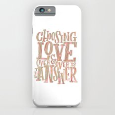 Choose love - marbled iPhone 6s Slim Case