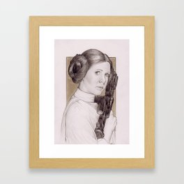 Carrie Fisher as Princess Leia from Star Wars Framed Art Print