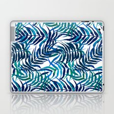 Watercolor floral pattern with palm leaves Laptop & iPad Skin