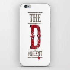 Django - The D is silent iPhone & iPod Skin