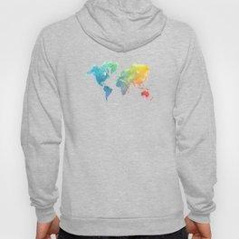 World Map splash 1 Hoody