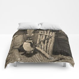 Antique Tintype Penguin Comforters