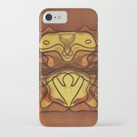 totem iPhone & iPod Cases featuring Totem by SensualPatterns