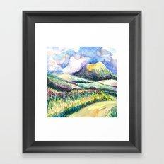 Path to Cloud Mountain Framed Art Print