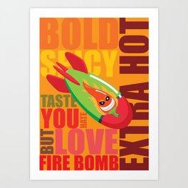 Fire Bomb Art Print