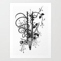 Antelope Skull Art Print