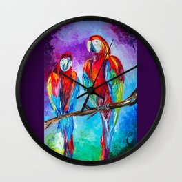 Parrots Wall Clock
