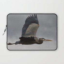 Bird series: heron in flight Laptop Sleeve