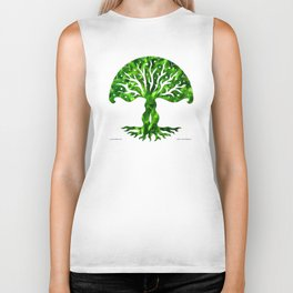 viviána tree of life, green gallery mandala Biker Tank