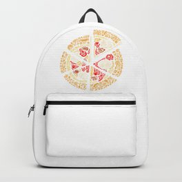 Pizza Pieces Artwork Backpack