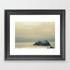 So Far Away Framed Art Print