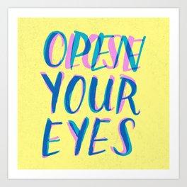 Abre/Cierra Art Print