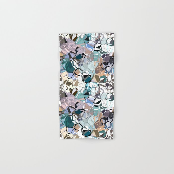 Abstract Geometric Shapes Hand & Bath Towel