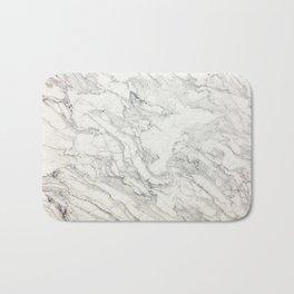 White Marble 010 Bath Mat