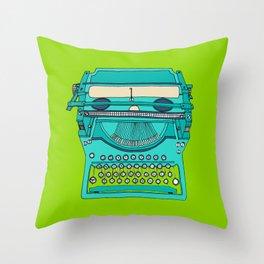 Typewriter number four Throw Pillow