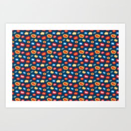 Action Packed! Art Print