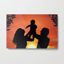 happy family Metal Print