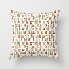Guitars Pattern Throw Pillow