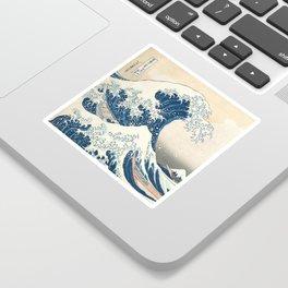 The Great Wave off Kanagawa by Katsushika Hokusai from the series Thirty-six Views of Mount Fuji Sticker