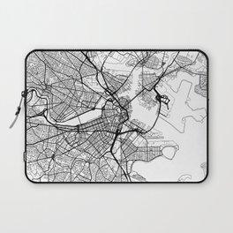 Boston Map White Laptop Sleeve
