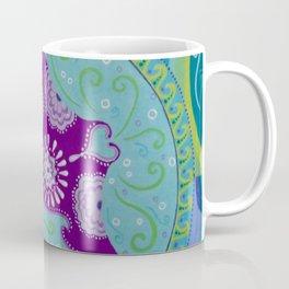 Manta Ray and Moon Mandala Coffee Mug