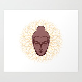 Spiritual Mind power of Buddha Art Print