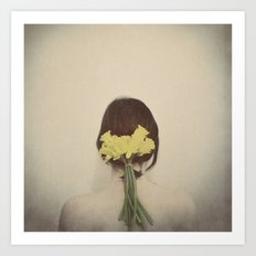 Flowers in her Hair Art Print