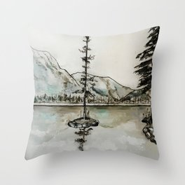 Old Pine IV Throw Pillow