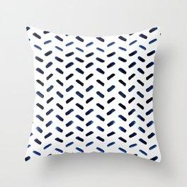 Blue Indigo Series - Stroke Pattern Throw Pillow