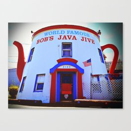 Coffee shop landmark Canvas Print
