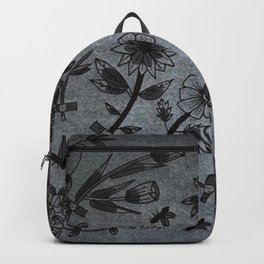 Floral Fix Tattoo (gray) Backpack