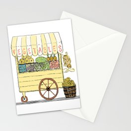 Vegetable Cart Stationery Cards