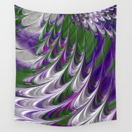 Purple and Green Abstract Wall Tapestry