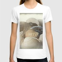 shells T-shirts featuring Shells by Fran Walding