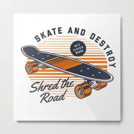 Classic skateboard Metal Print